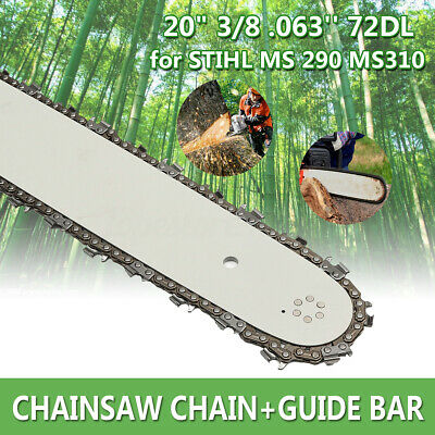 """14""""/16""""/20"""" Chainsaw Guide Bar 50/55/72DL 3/8"""" LP .063"""" .050 For STIHL"""