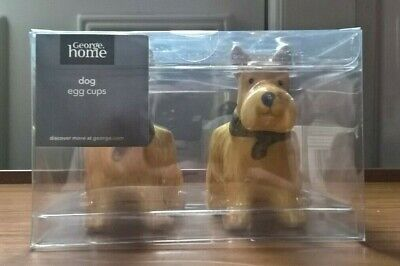 George Home Westie Dog Egg Cups *BRAND NEW* IN BOX *STILL SEALED*