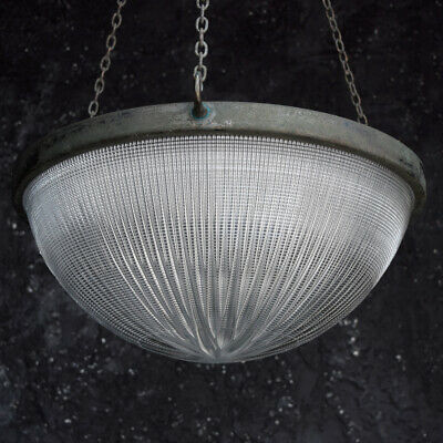 Huge Holophane Stiletto Pendant Light c.1910