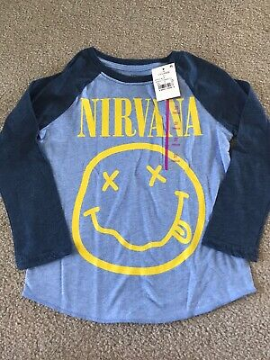 Toddler boys 3T Nirvana long sleeve tshirt blue new with tags