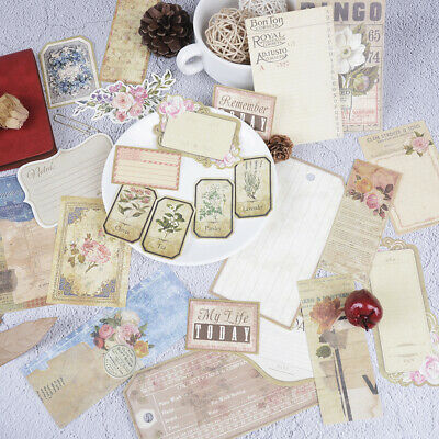 26pcs vintage note paper die cuts for scrapbooking planner/journaling project~GN