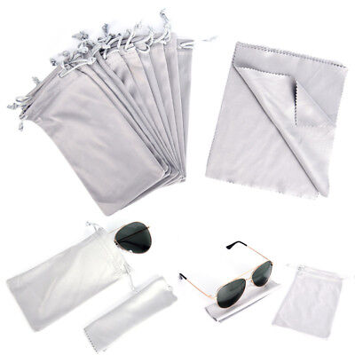 1 Pouches Sunglasses Soft Cloth Dust Cleaning Optical Glasses Carry Bag Porta~GN
