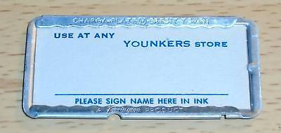 RARE Vtg YOUNKERS Charge Plate Metal Credit Card CHARGA-PLATE Iowa | UNSIGNED!