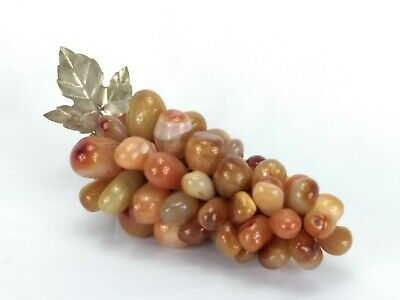 Vintage Grape Cluster Polished Stone Grapes Decor