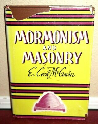 Rare Joseph Smith, Mormonism and Masonry 1956 Enlarged Edition LDS Mormon HB