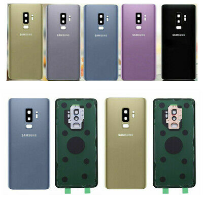 For Samsung Galaxy S9 S9 Plus Battery Door Cover Back Housing Glass + Camera Len
