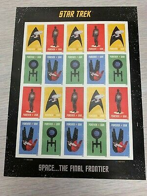 2015(2016) USPS Star Trek Forever Stamp - Sheet of 20 Unused Stamps Collectible