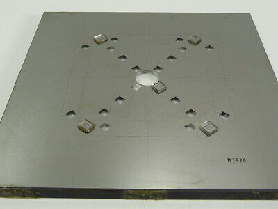 USA Optical Comparator Calibration Reticle Pattern Cross TARGET Glass Mirror