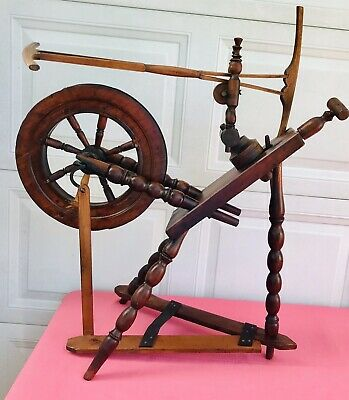 """Antique Spinning Wheel 1800's 30"""" Very Nice Works"""