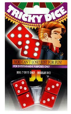 Seven eleven dice tricky roll 7 or 11 close up trick fun lucky win entertainment