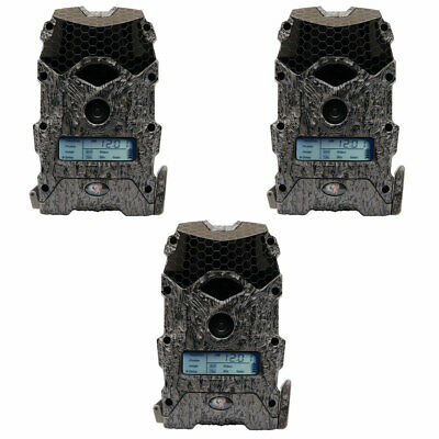 Wildgame Innovations Mirage 16 Lightsout 16MP 720p Game Camera, Camo (3 Pack)