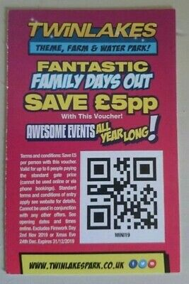 Twinlakes Theme Park Save £5 Per Person Up To 6 People Voucher Discount..
