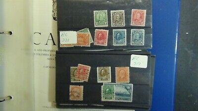 Canada stamp collection on Minkus in 3 ring w/ 650 or so stamps ~ '86