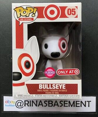 Tail Damaged Box Funko Pop Ad Icons #05 Bullseye Flocked Target Exclusive Gold