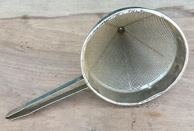 """Stainless Steel 10"""" China Cap Strainer funnel colander grease oil flour sifter"""
