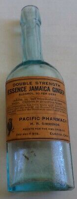 Western Labeled Jamaica Ginger, Pacific Pharmacy, Eureka, Calif. Owl Picture