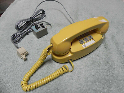 1978 Yellow Western Electric Bell System Princess TT Desk Telephone-Restored-Vtg