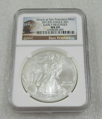 2013-S American Silver Eagle 1 oz Fine Silver * NGC MS69 Early Releases
