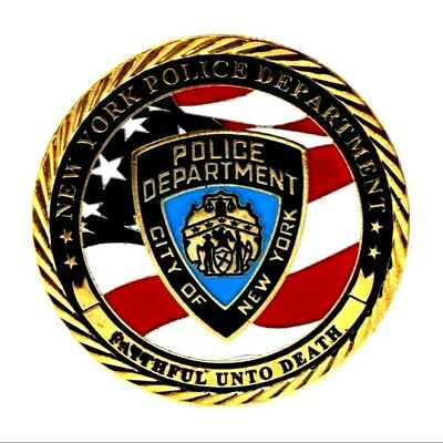New York Police Department Red White & Blue Detective Challenge Coin