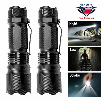LED Tactical Flashlight Military Torch Small Super Bright Handheld Light Best