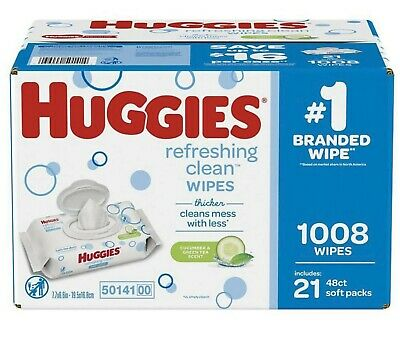 Huggies Hypoallergenic Baby Wipes Disposable Refreshing Clean Soft Pk 1,008 ct.