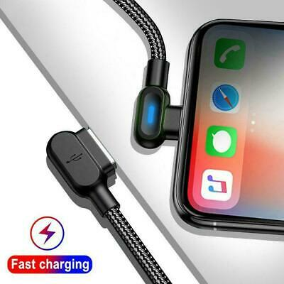 90 Degree Right Angle USB C 3.1 Type C Fast Data Sync Charger Cable Chargin Y4F1