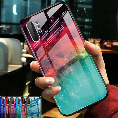 Gradient Tempered Glass Case Cover For Samsung Galaxy Note 10 PLus S10 A70 A60