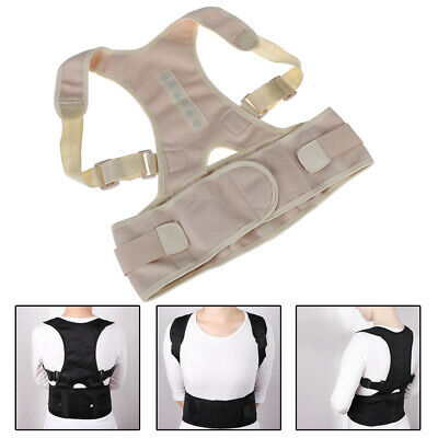 Back Posture Correction Shoulder Corrector Support Brace Magnetic Posture Belt#