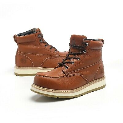 Work Boots for Men Soft Toe Waterproof Safety boots Leather Working Shoes.