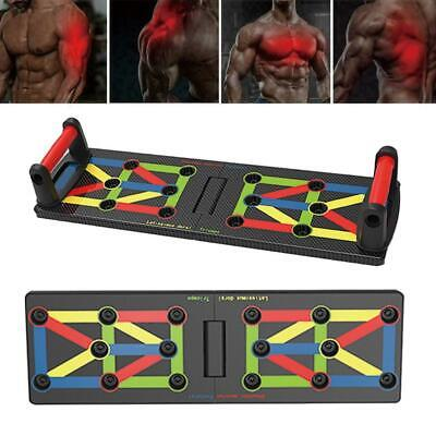 9in1 Push Up Rack Board System Fitness Workout Train Gym Exercise Body  Stands