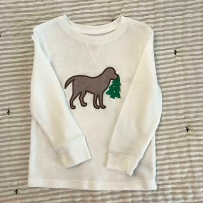 Boys Long Sleeve Dog Christmas Shirt size 3T