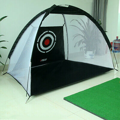 Indoor Outdoor Golf Practice Net Driving Hitting Cage Training Aid & Bag
