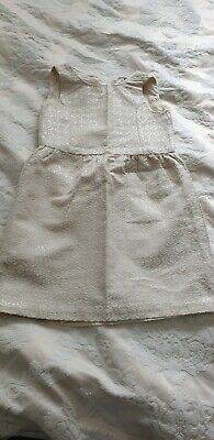 girls party occasions 3dress age 4/5 grey cream vgc  cotton next  gap