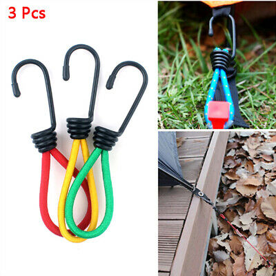 3 Pcs Tent Hook Sturdy Elastic Rope Buckle for Camping Biking Traveling Boat~GN