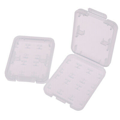 2Pcs 8 in 1 Transparent TF MS Memory Card Holder Plastic Case Storage Box~GN