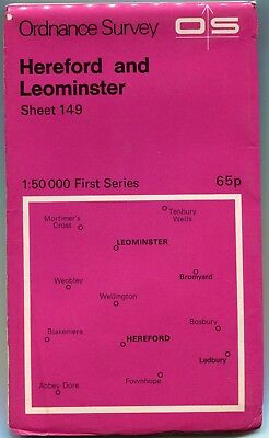 Map   Hereford and Leominster    1976