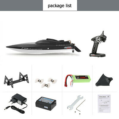 Feilun FT011 2.4G  Water Cooling Racing Boat 55km/h High Speed RC Flip Boat L4R5