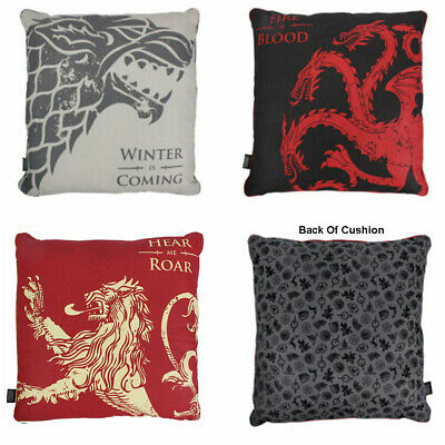 Game Of Thrones Filled Cushion : House Stark / Targaryen / Lannister 46cm x 46cm
