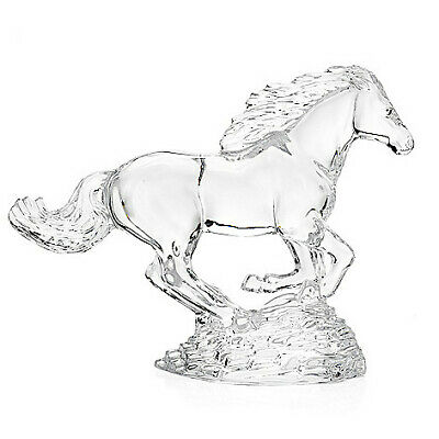 """Waterford Crystal Collectibles 8"""" Running Horse Figurine"""