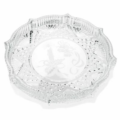 Waterford Crystal Holiday 8 Scalloped Edge Round Tray