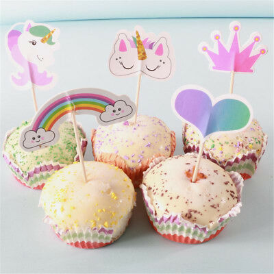 20pcs party cupcake topper cake picks birthday party baby shower de GN