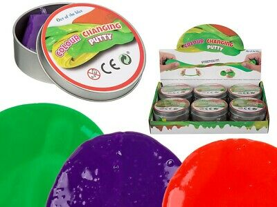 Colour Changing Smart Putty Purple Blue Pink Green Lime Red Yellow Slime Goo