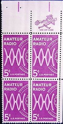 US  1964 Zip Block 1260 MNH - Amateur Radio