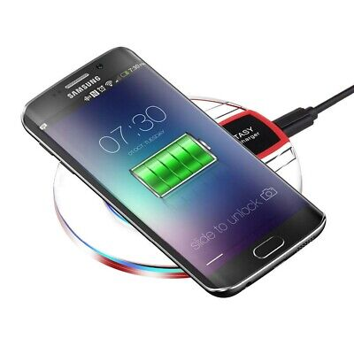 Qi Fast Wireless Charger Portable Charging Pad For Samsung iPhone XR X 8 Plus