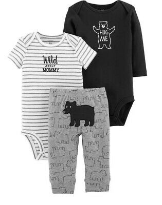 "Baby Boy Carter/'s /""Wild About Mommy/"" Bodysuit Bear Bodysuit /& Pants Set 9m"