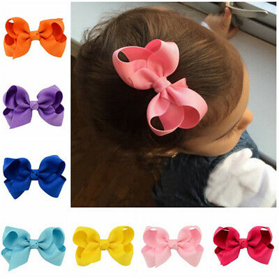 20pcs Kids Baby Girls Children Toddler Flowers Hair Clip Bow Accessor~GN