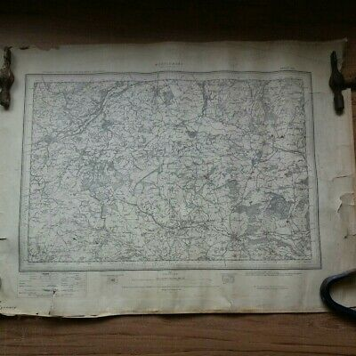 1910 Antique Ordnance survey map of Montgomery WELSHPOOL Wales No.14