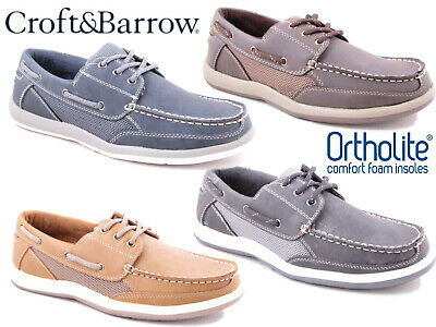 Mens Boat Deck Shoes Casual Memory Foam Lightweight Loafers Croft and Barrow