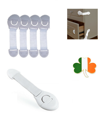 5 x Safety Plastic Locks For Child Kid Baby Safety Cabinet Door Drawers Fridge