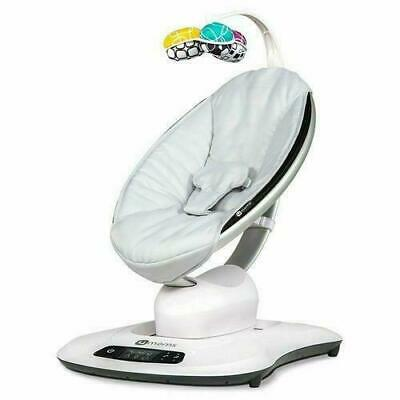 4Moms Mamaroo 4 Infant Baby Reclining Rocker Bouncer Swinging Seat, Classic Gray